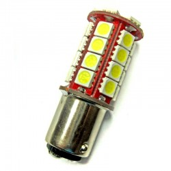 Ampoule P21/5W BAY15D 30 leds blanches 6 volts