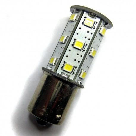 Ampoule P21W BA15S 24 leds blanches 6 volts
