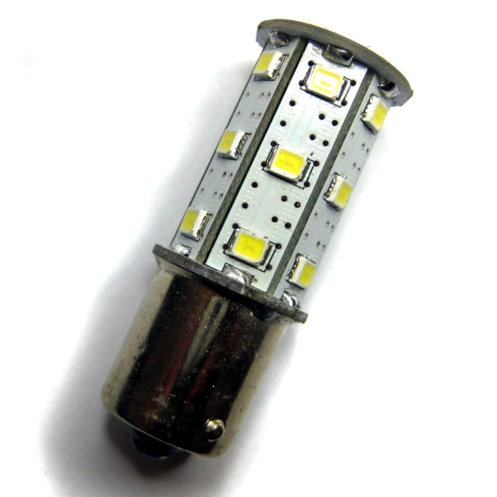 Ampoule p21w ba15s 24 leds blanches 6 volts led effect - Ampoule led 12 volts ...