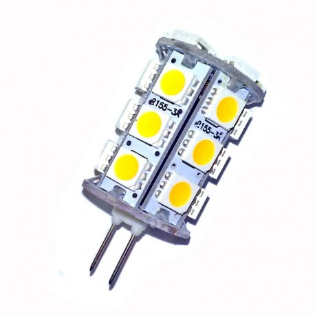 Ampoule led G4 à 24 leds 5050 blanc chaud