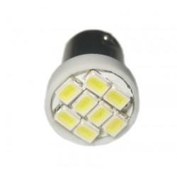 Ampoule Leds 24v H6W BAX9S à 8 leds blanches