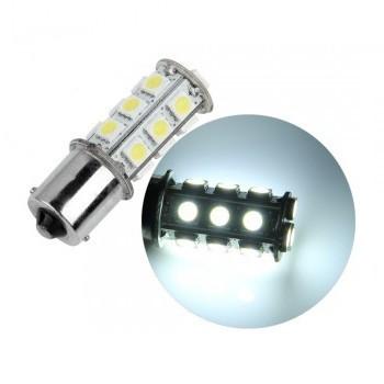 ampoule p21w ba15s 18 leds blanches led effect. Black Bedroom Furniture Sets. Home Design Ideas