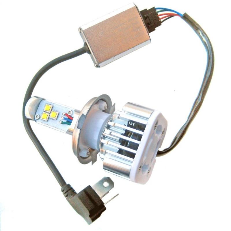 ampoule led h4 2000 3000 lumens 9 30 volts led effect. Black Bedroom Furniture Sets. Home Design Ideas