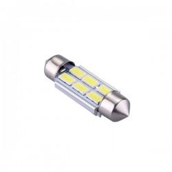 Ampoule navette c5w c7w c10w de 36 mm 6 leds blanches 5630 24 volts