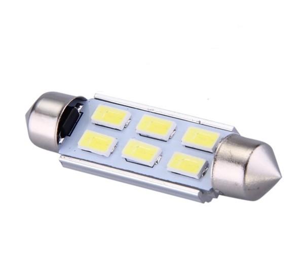 ampoule navette c5w c7w c10w de 41 mm 6 leds blanches 5630 24 volts led effect. Black Bedroom Furniture Sets. Home Design Ideas