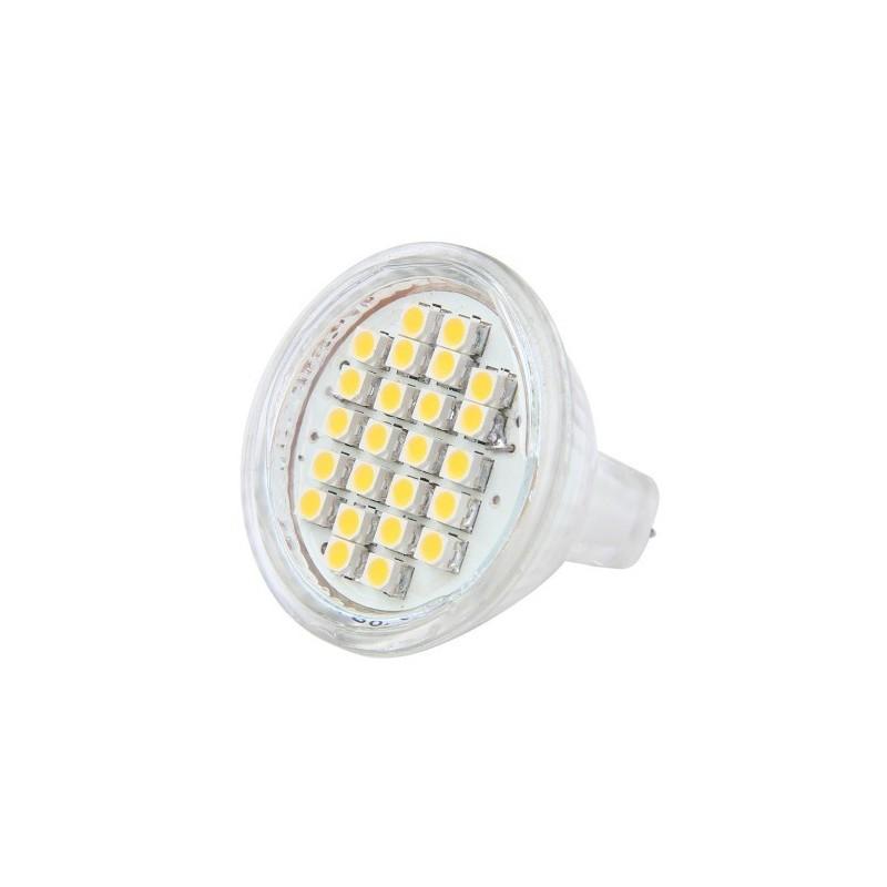 ampoule led mr11 culot gu4 24 leds blanc chaud led effect. Black Bedroom Furniture Sets. Home Design Ideas