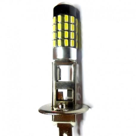 Ampoule H1 54 leds 3014 blanches 9 à 30 volts