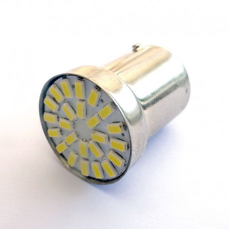 Ampoule R5W R10W BA15S 24 Leds sans polarité