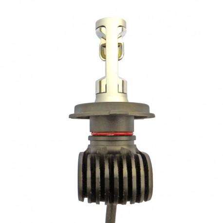 Ampoule led H4 de 2 x 4000 Lumens 9 à 30 volts