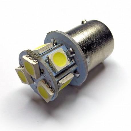 Ampoule R5W, R10W BA15S à 8 Leds blanches