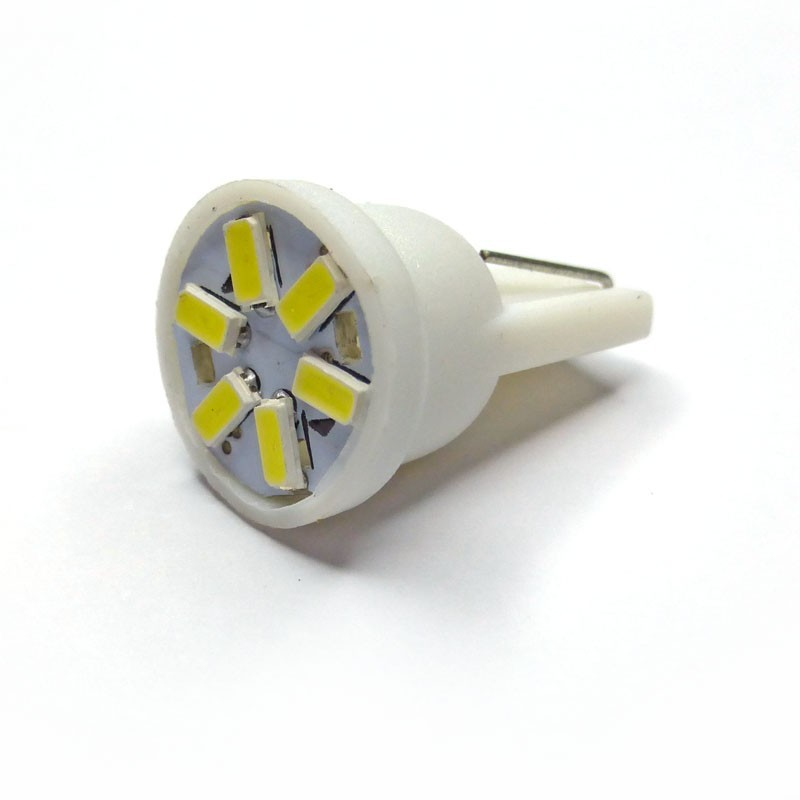 Ampoule Led T10 W5W 6 leds 3014