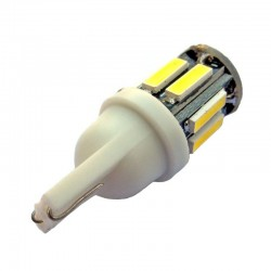 Ampoule led T10 W5W 10 leds blanches