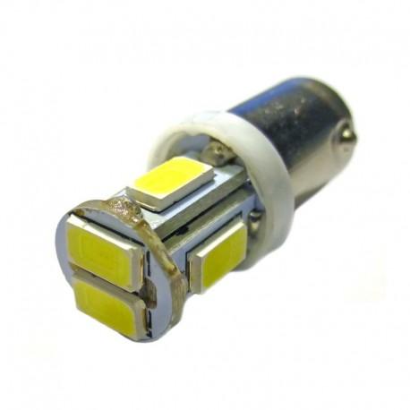 Ampoule T4W BA9S 6 leds blanches 6 volts