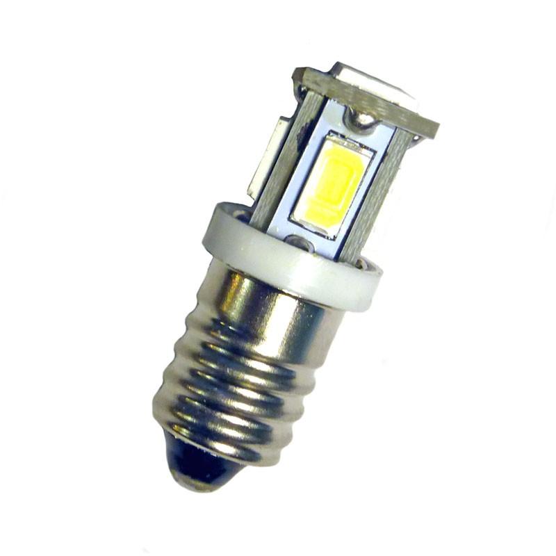 Ampoule E(P)10 6 leds blanches 6 volts