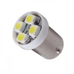 Ampoule led 24 volts T4W BA9S 4 leds sans polarité