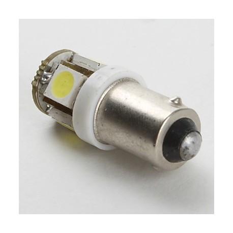 Ampoule 24 volts H6W BAX9S 5 leds sans polarité