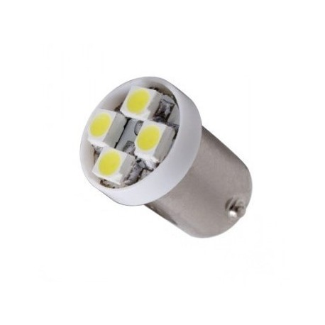 Ampoule H6W-BAX9S 4 leds 24 volts sans polarité