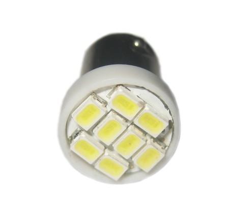 Ampoule Leds 24v H6W BAX9S à 8 leds blanches sans polarité