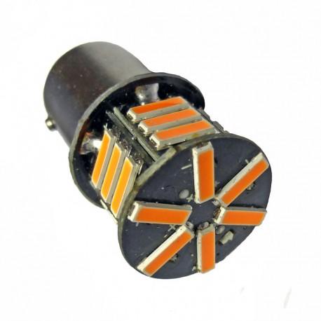 Ampoule P21W BA15S 21 Leds oranges 24 volts