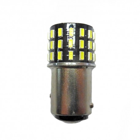 Ampoule P21/5W BAY15D 54 Leds blanches 9-30 volts