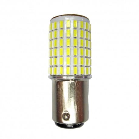 Ampoule P21/5W BAY15D 144 Leds blanches 9-30 volts