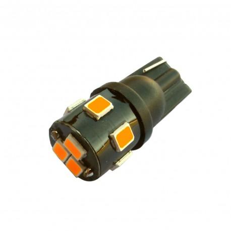 ampoule led Wedge T10 W5W 9 leds 2835 oranges