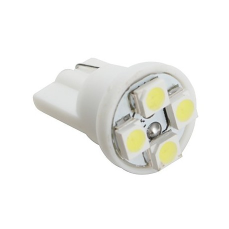 Ampoule Led 24 volts T10-W5W 4 leds 3528