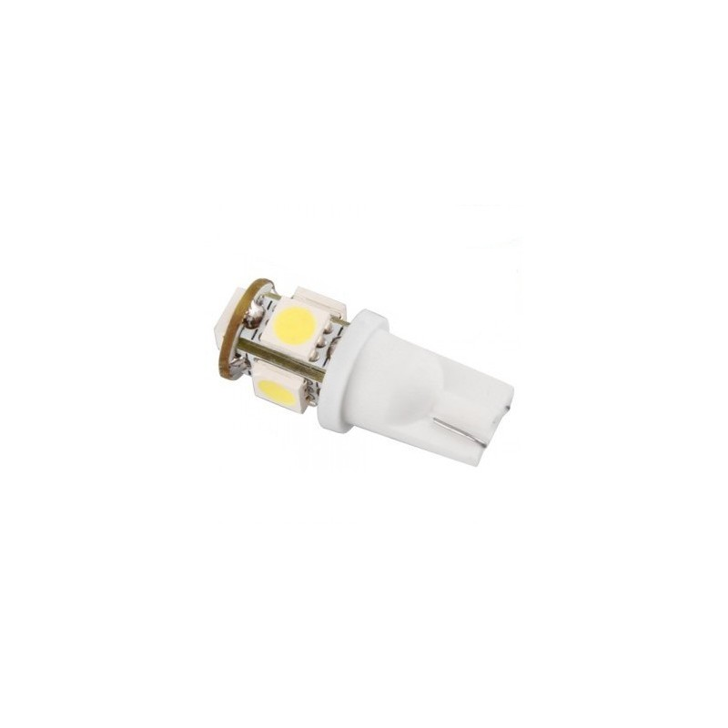 Ampoule led 24v t10 w5w 5 leds 5050 led effect - Ampoule led w5w ...