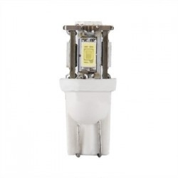 Ampoule T10 W5W 5 leds blanches 5630