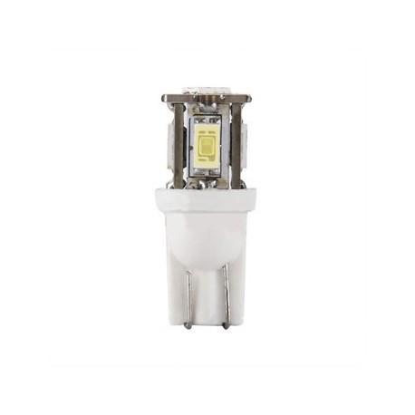 Ampoule T10 W5W 5 leds blanches 5630