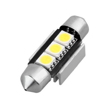 ampoule navette c5w 36 mm 3 leds 5050 blanches led effect. Black Bedroom Furniture Sets. Home Design Ideas