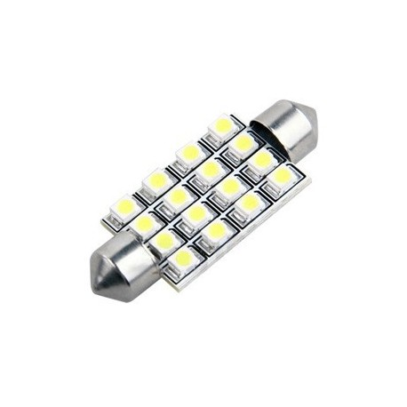 Ampoule navette feston C5W 41 mm 16 leds blanches 24 volts