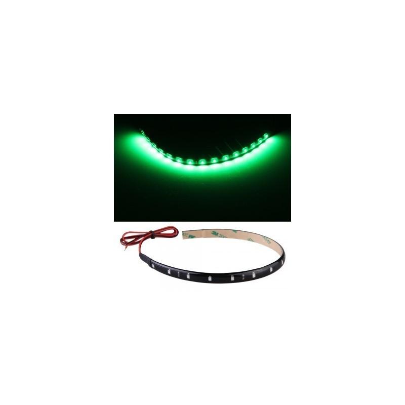 paire de bandes de led vertes pour tuning led effect. Black Bedroom Furniture Sets. Home Design Ideas