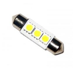 Ampoule C5W 36 mm 3 leds 5050 blanches