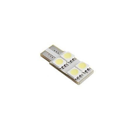 Ampoule Led T10-W5W 4 leds blanches canbus