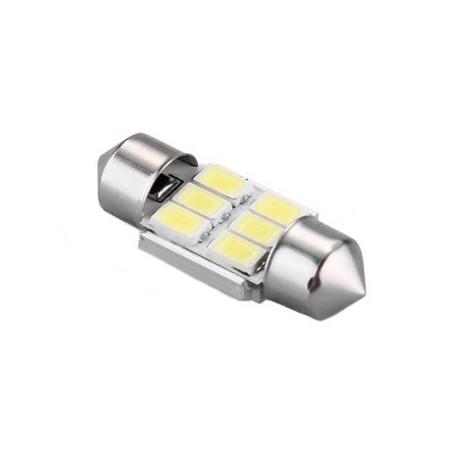 Ampoule C5W C7W 31mm 6 leds blanches