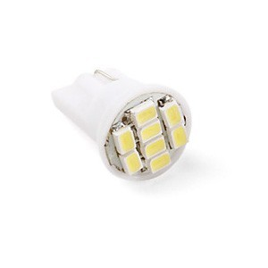 Ampoule T10 W5W 8 leds blanches