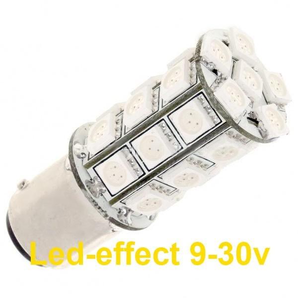 Ampoule PY21W BAU15S 27 Leds ambres 9 à 30 volts