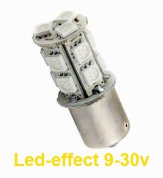 Ampoule PY21W BAU15S 13 Leds ambres 9 à 30 volts