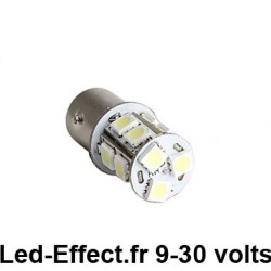 Ampoule P21/5W BAY15D 13 Leds blanches 9-30 volts