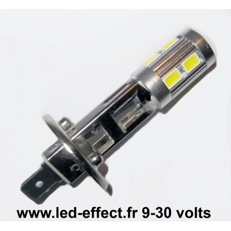 Ampoule H1 10 leds 5630 blanches 9 à 30 volts