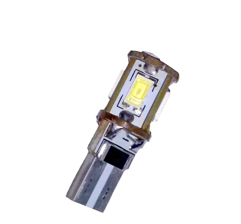 Ampoule T10 W5W 5 leds blanches 5630 anti-erreur canbus