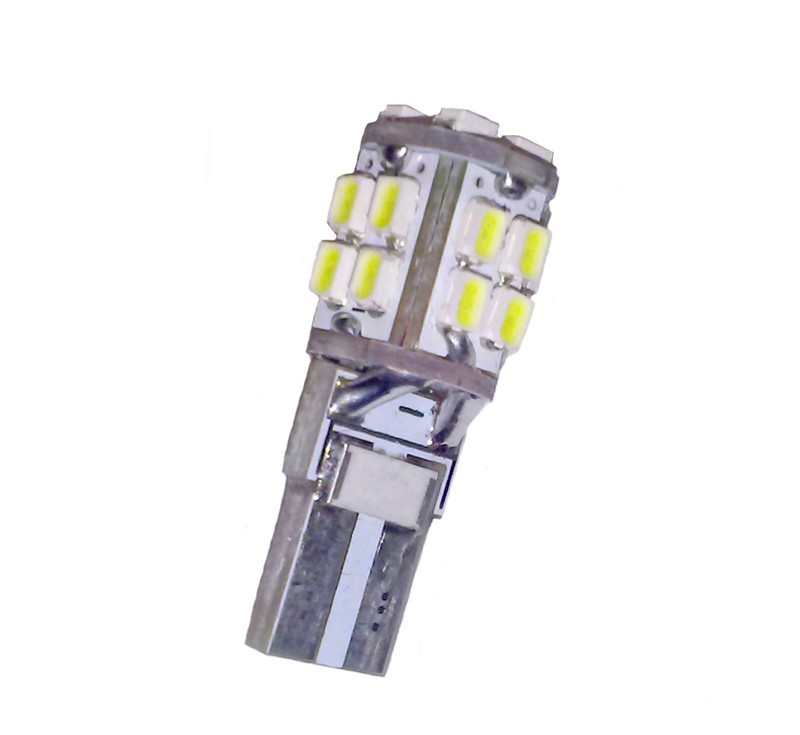 Ampoule led T10 W5W 20 leds blanches anti-erreur canbus