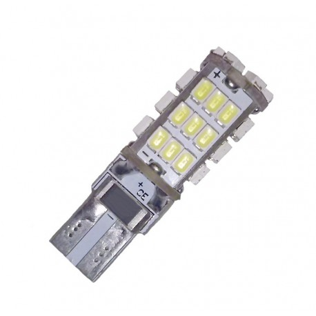 Ampoule led T10 W5W W16W 42 leds blanches anti-erreur canbus