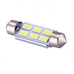Ampoule navette c5w c7w c10w de 39 mm 6 leds blanches 5630