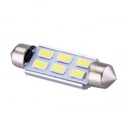 Ampoule navette c5w c7w c10w de 41 mm 6 leds blanches 5630