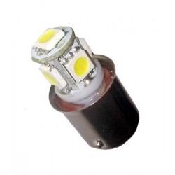Ampoule R5W BA15S 5 Leds 24 volts non polarisée