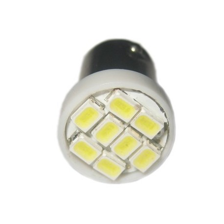 Ampoule led 24V T4W BA9S 8 leds blanches