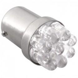 Ampoule R5W BA15S 9 Leds blanches rondes