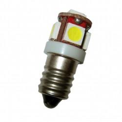 Ampoule E(P)10 5 leds blanches 6 volts